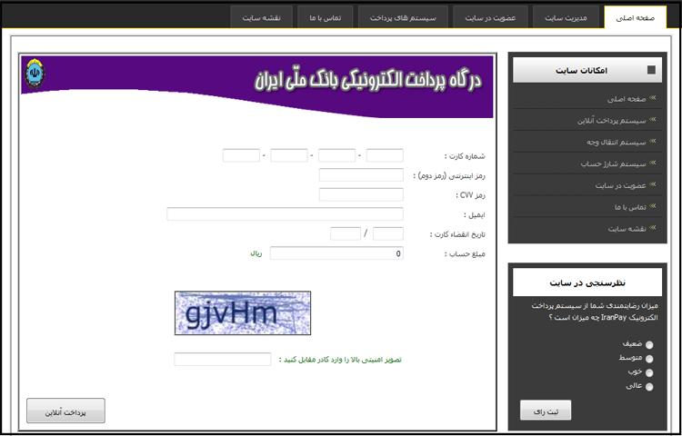 وب سایت پرداخت الکترونیک مجازی در Asp.Net