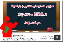 ارسال مقادیر از html به asp.net