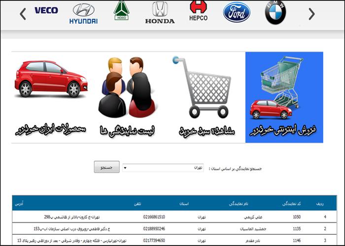 پروژه وب سایت فروشگاه خودرو با asp.net