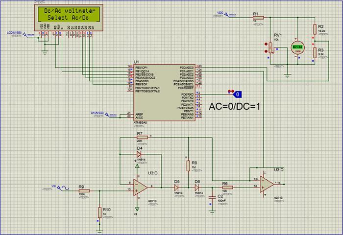 پروژه ولت متر ac-dc