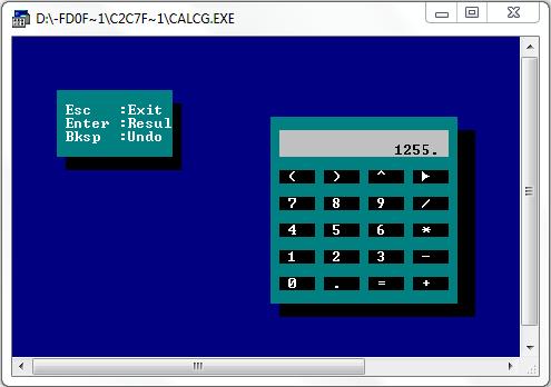 پروژه ماشین حساب گرافیکی به زبان c