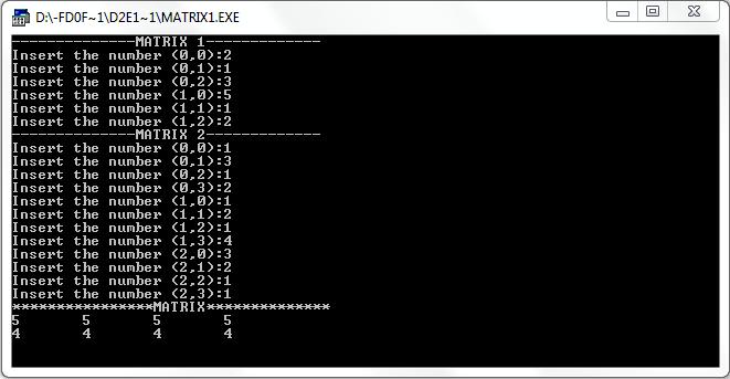 پروژه رایگان ضرب دو ماتریس با c++