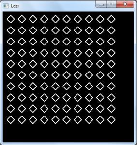 پروژه رسم لوزی با c++