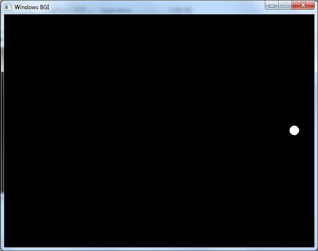 پروژه حرکت توپ با c++