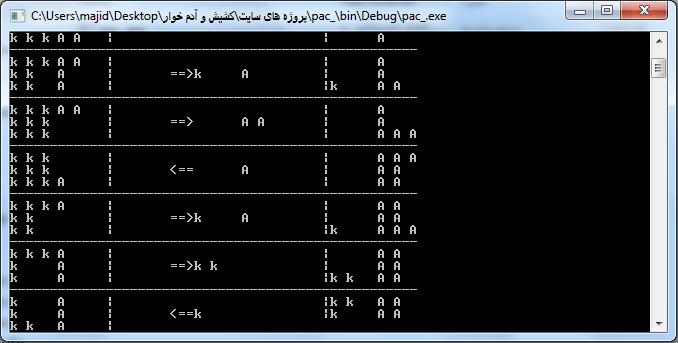 پروژه کشیش و آدم خوار با c++