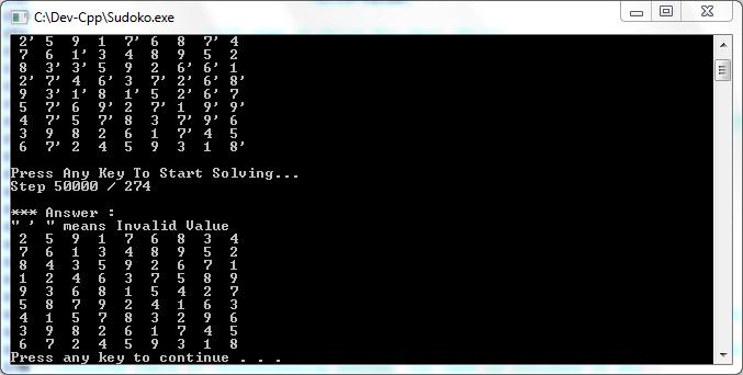 مساله سودوکو با c++